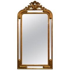 Antique English Giltwood Mirror