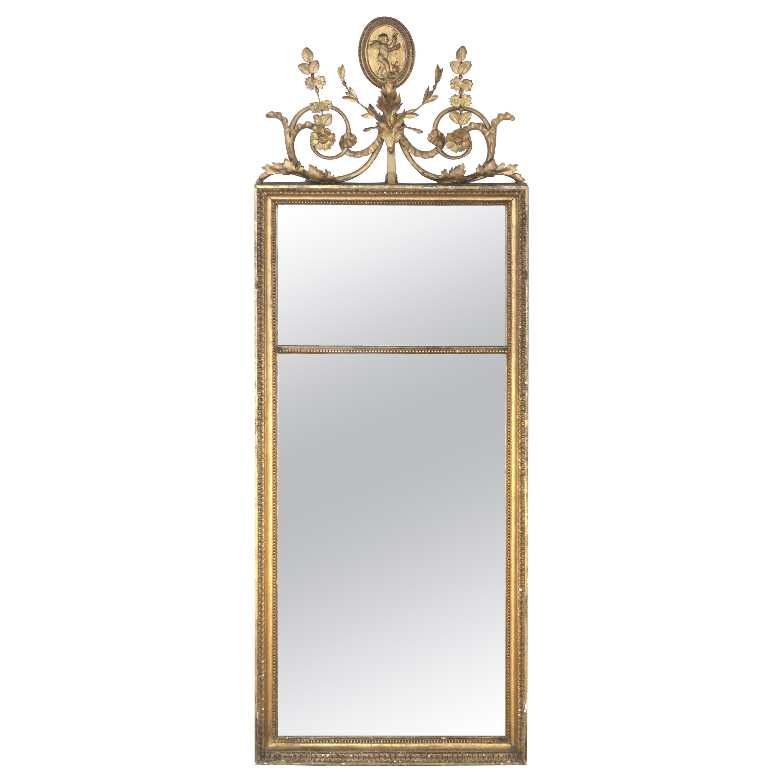 Antique English Giltwood Pier Mirror