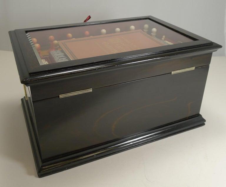 Antique English Glass Coromandel and Games Compendium / Box, circa 1880 For Sale 12