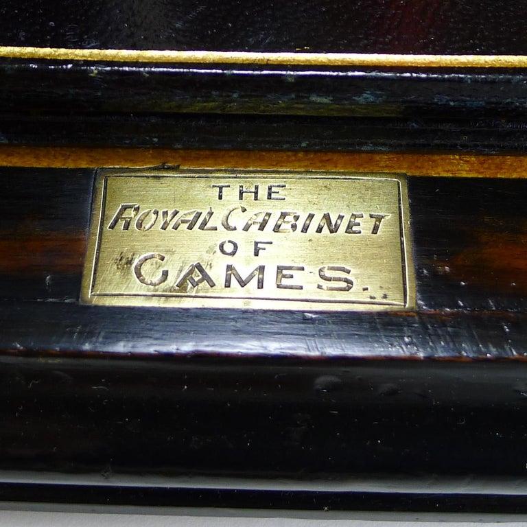 Antique English Glass Coromandel and Games Compendium / Box, circa 1880 In Good Condition For Sale In London, GB
