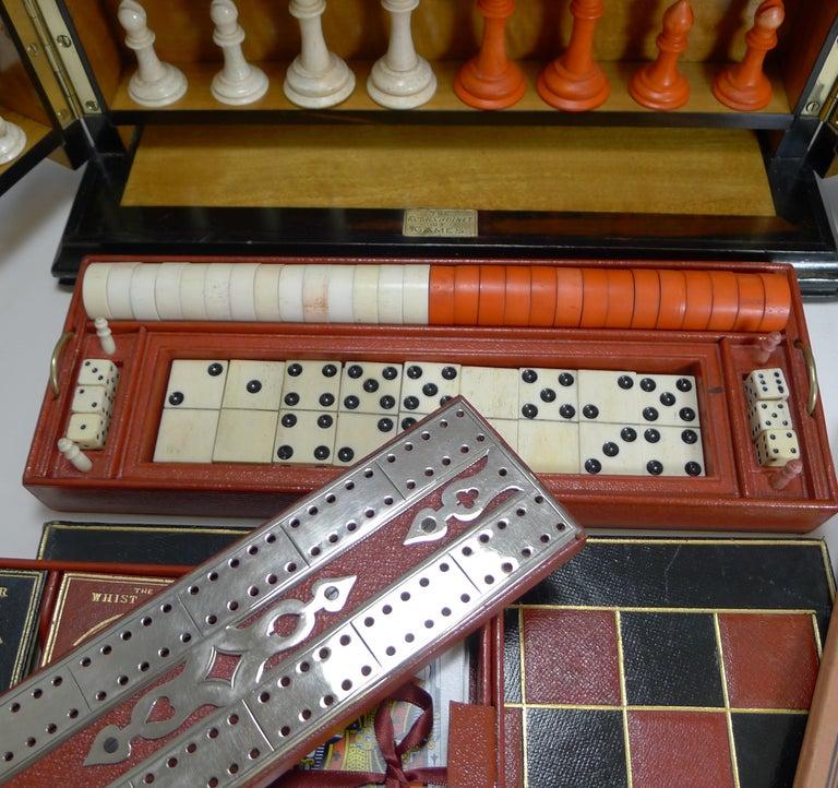 Antique English Glass Coromandel and Games Compendium / Box, circa 1880 For Sale 1