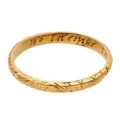 Antique English Gold Band Posy Ring