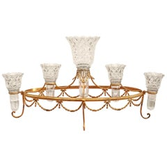 Antique English Grand Scale Cut Crystal and Bronze Epergne