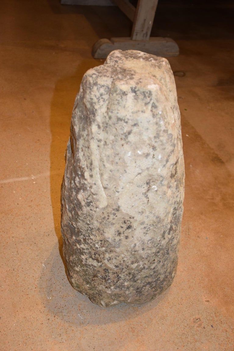 Antique English Hand Carved Staddle Stone, Early 1800s For Sale 8