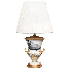 Antique English Hand Painted Garniture Made into a Lamp