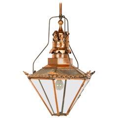"Antique English ""Huge"" Copper Lantern, circa 1800s"