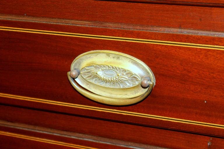 Antique English Inlaid Mahogany George III Slant-Front Bureau, Superb Interior For Sale 14