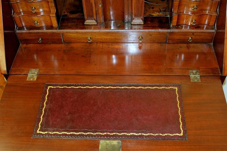 Antique English Inlaid Mahogany George III Slant-Front Bureau, Superb Interior For Sale 2