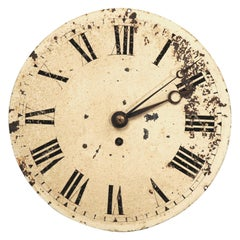 Antique English Iron Clock Dial Face Industrial Fully Working