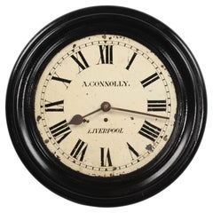 Antique English Iron Clock Dial Face Industrial Liverpool Fully Working