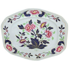 Antique English J. & W. Ridgway Ironstone Hand-Painted Imari Well & Tree Platter