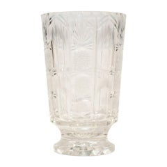 Antique English Large Cut Crystal Vase