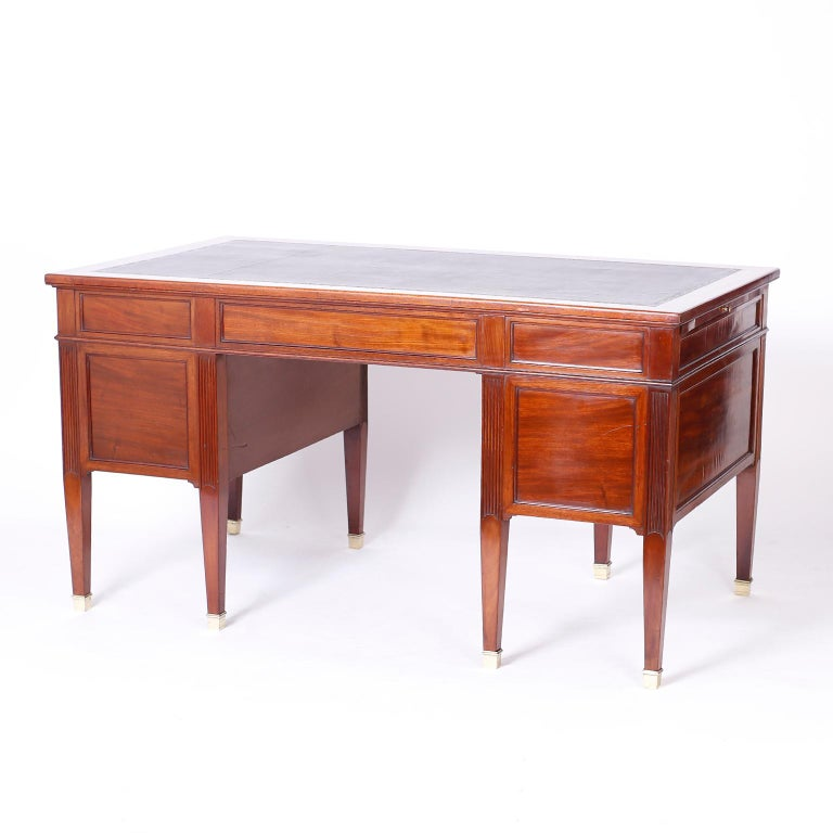 Antique English Leather Top Desk For Sale 2