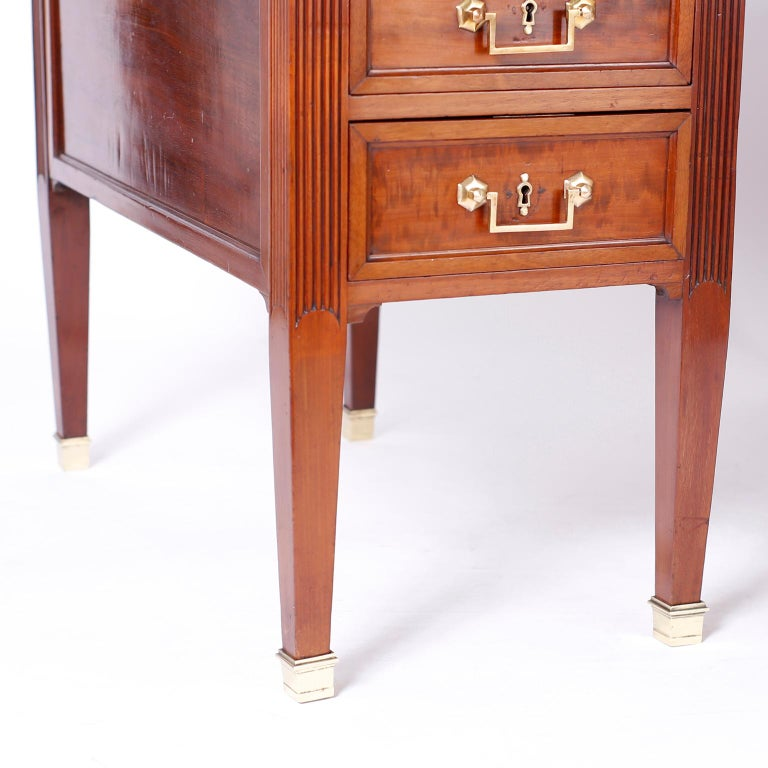 Antique English Leather Top Desk For Sale 3