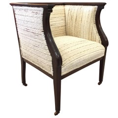 Antique English Library Armchair