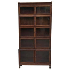 Antique English Mahogany Bookcase, File Cabinet