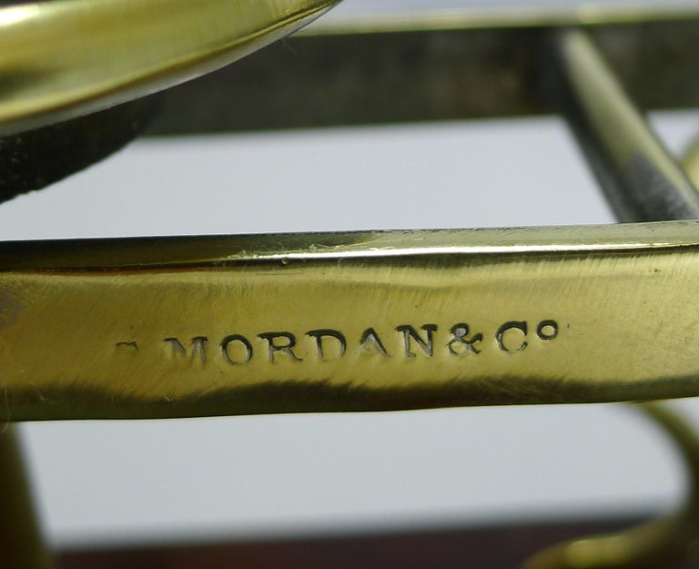 Antique English Mahogany & Brass Letter Scales, S. Mordan & Co., London For Sale 2