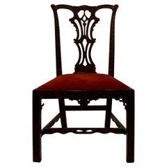 Antique English Mahogany Chair, circa 1870-1880