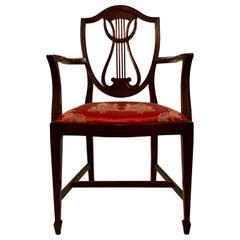Antique English Mahogany Desk Chair, circa 1865-1875