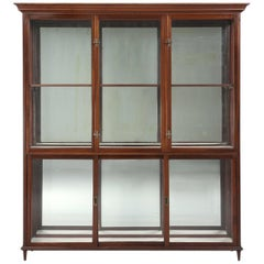 Antique English Mahogany Display or Curio Cabinet, from a Luxury Store
