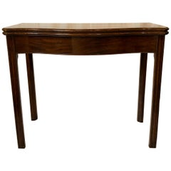 Antique English Mahogany Games Table, circa 1770-1790