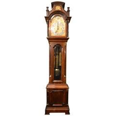 Antique English Mahogany Grandfather Clock, circa 1890