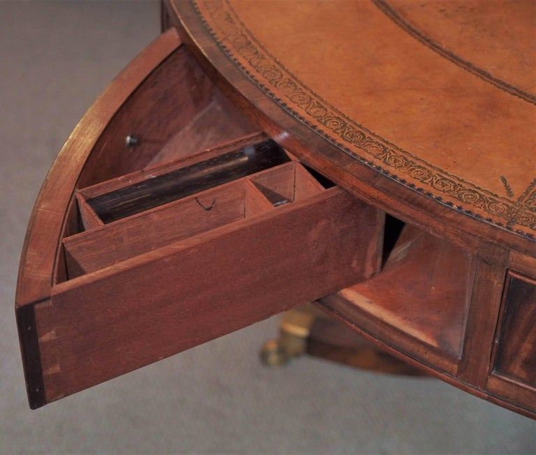 19th Century Antique English Mahogany Rent Table For Sale