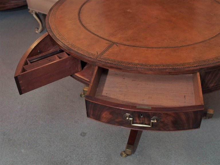 Antique English Mahogany Rent Table For Sale 1
