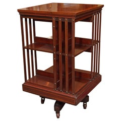 Antique English Mahogany Revolving Bookstand