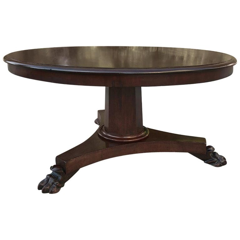 English Mahogany Round Coffee Table