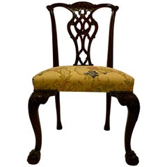 Antique English Mahogany Side Chair, Fine Quality, circa 1860-1870