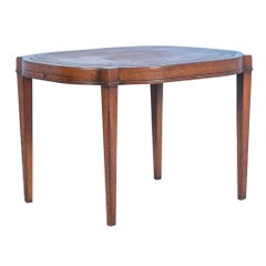 Antique English Mahogany Side Table or Small Coffee Table, circa 1940