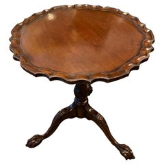 Antique English Mahogany Small Pie Crust Table
