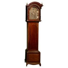 Antique English Mahogany Tall Case Clock, Circa 1900