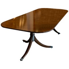 Antique English Mahogany Two Pedestal Dining Table