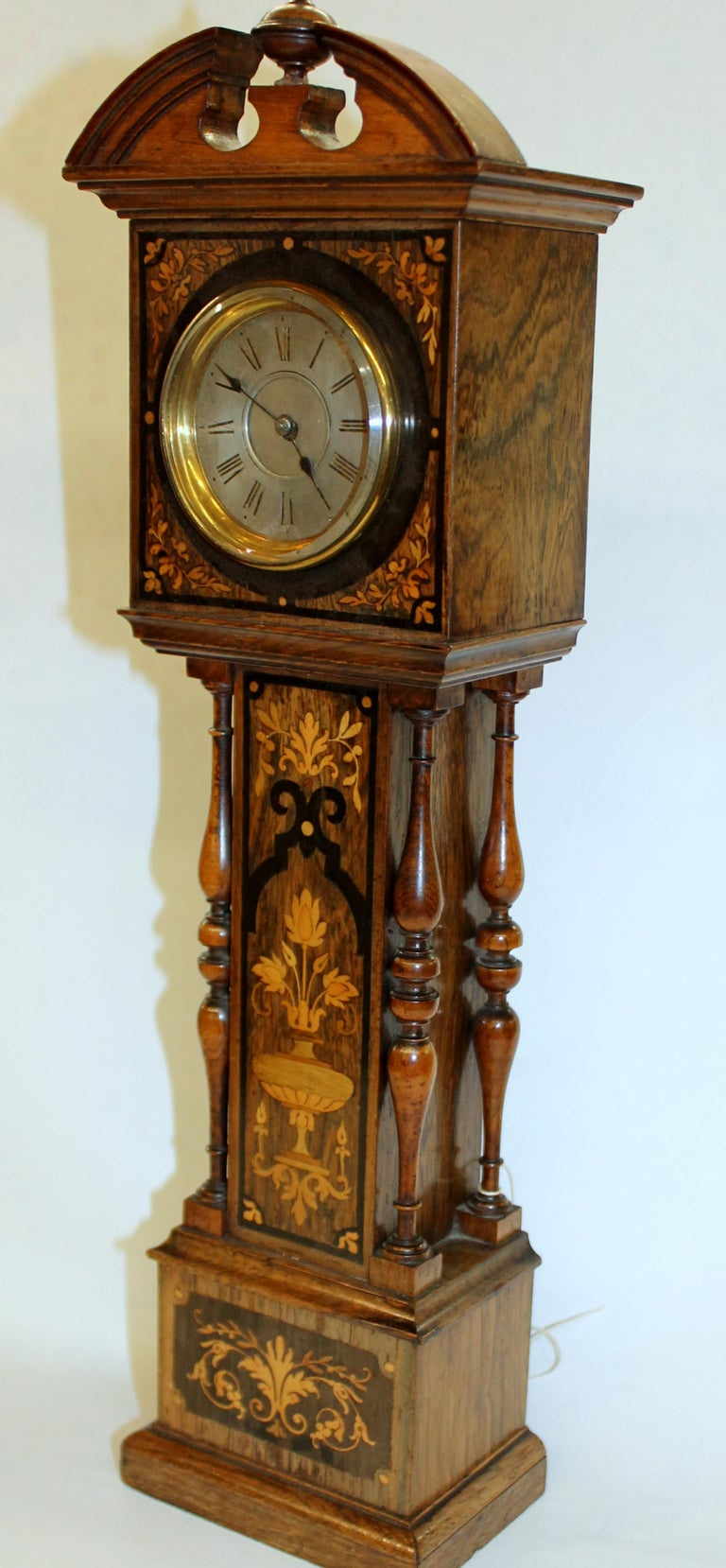 George IV Antique English Marquetry Inlaid Rosewood Miniature