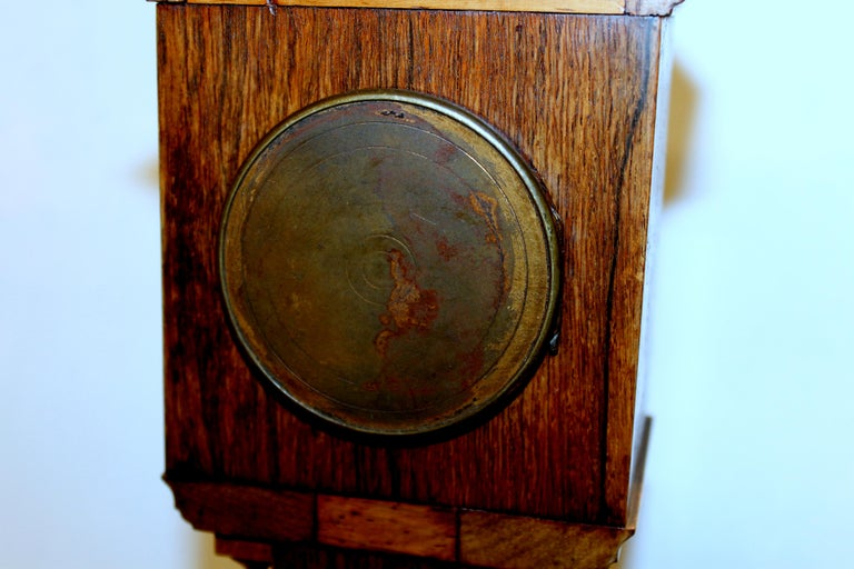 Antique English Marquetry Inlaid Rosewood Miniature