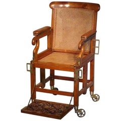 Antique English Military Campaign Chair, 1820