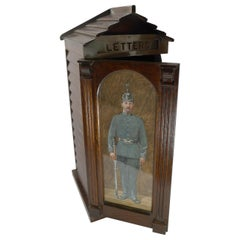 Antique English Military Sentry Letter Box, c.1900