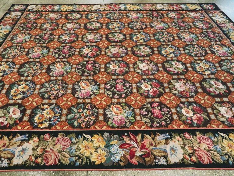 Antique English Needlepoint Carpet For Sale 4