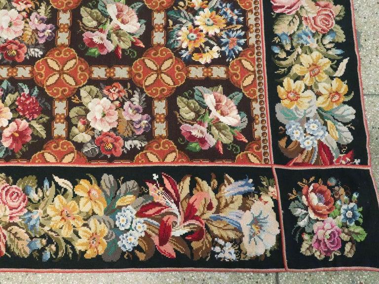 Antique English Needlepoint Carpet For Sale 5