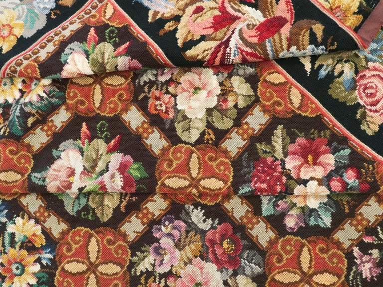 Antique English Needlepoint Carpet For Sale 6