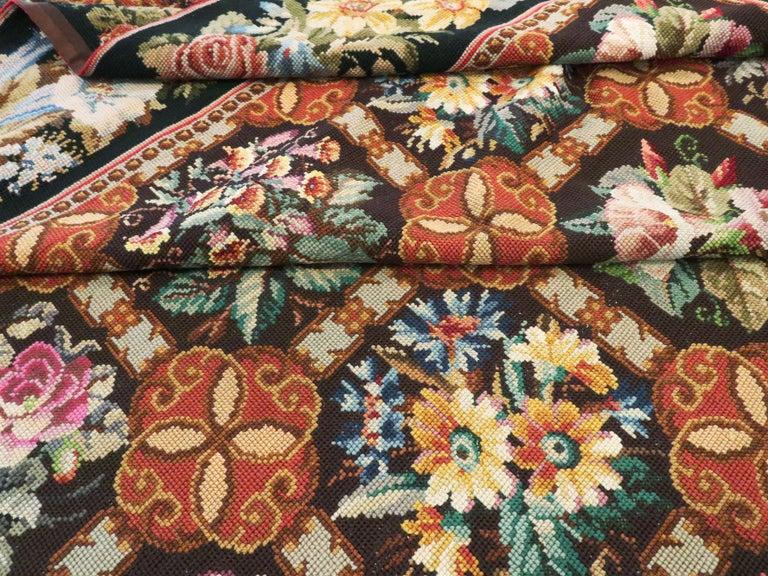 Antique English Needlepoint Carpet For Sale 7