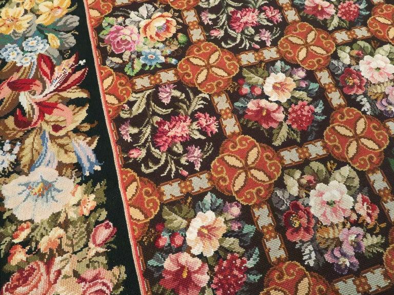 Antique English Needlepoint Carpet For Sale 1