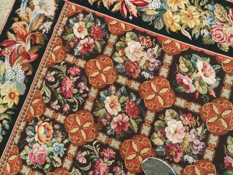 Antique English Needlepoint Carpet For Sale 2