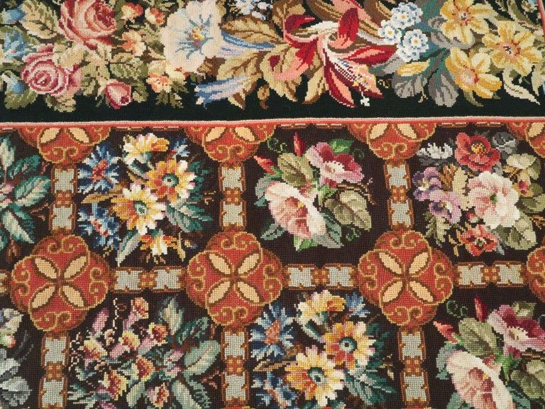 Antique English Needlepoint Carpet For Sale 3