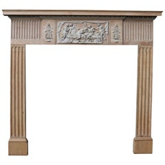 Antique English Neoclassical Fireplace