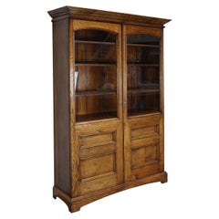 Antique English Oak Bookcase, circa 1870