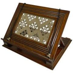 Antique English Oak and Brass Book Rest / Lectern, circa 1880