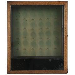 Antique English Oak Key Box